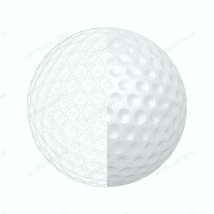 3D Modell des Golfballs