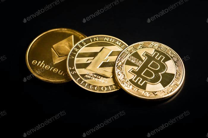 Bitcoin, ethereum and litecoin.