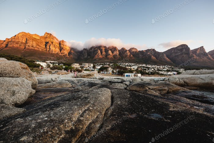 Sunset at Camps Bay, near Cape Town - South Africa