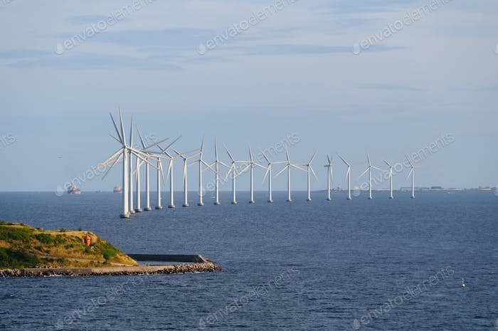Windmills on the North Sea Coast