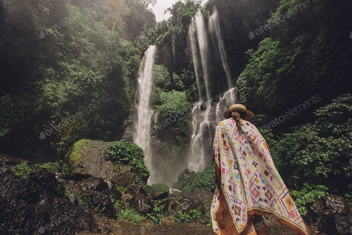 Young woman on a holiday in nature