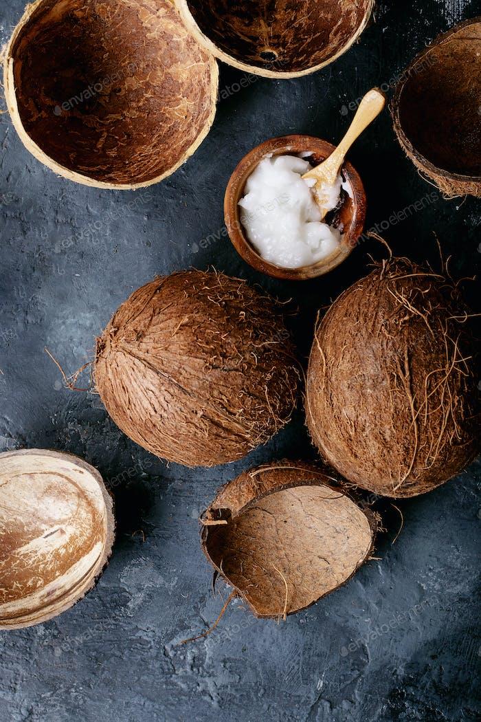 Kokosöl und Milch