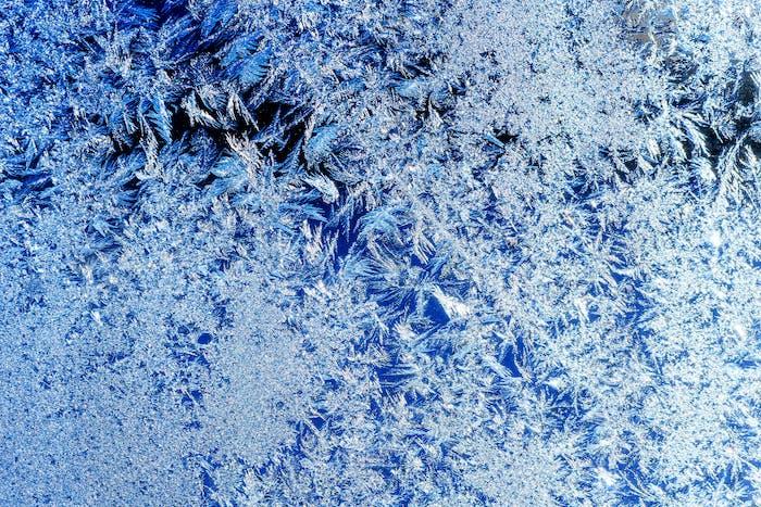 ice crystals on a window