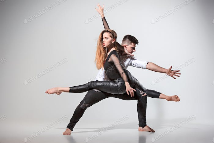 Two people dancing