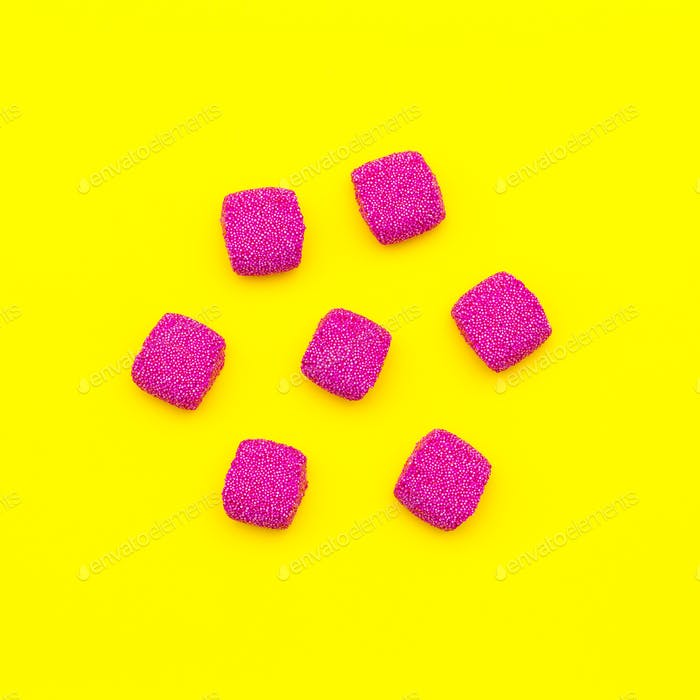 Red Candy set Minimal art