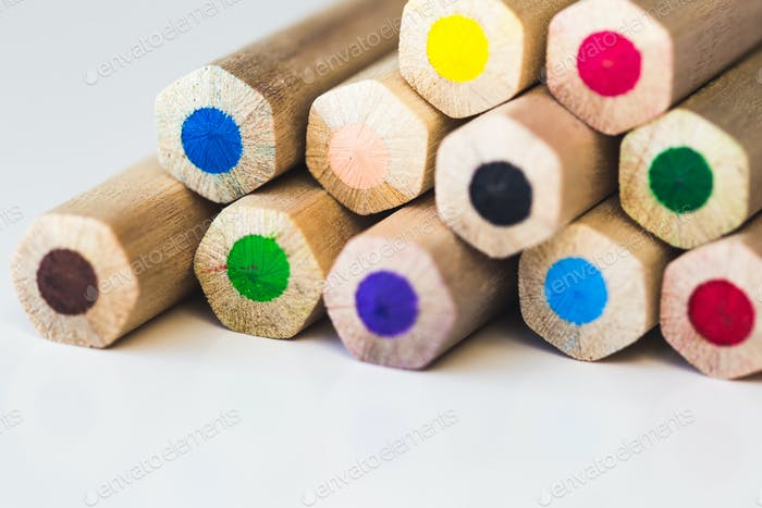 Colored pencils macro, can be used as a background