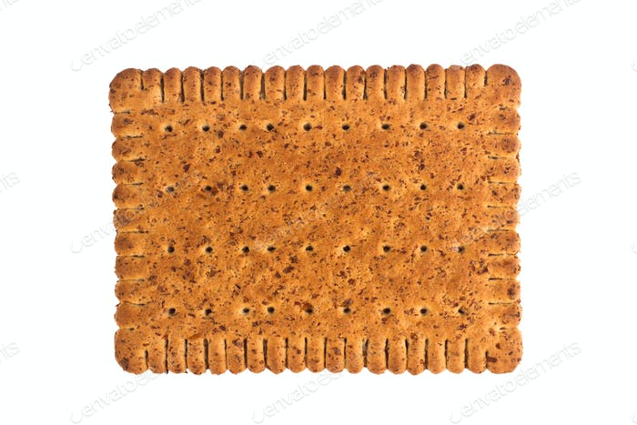 cookie biscuit isolated on white