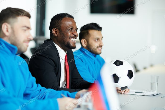 Sportsmen at conference