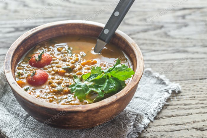 Bowl of lentil curry