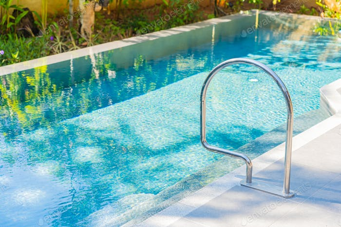 Stair around outdoor swimming pool