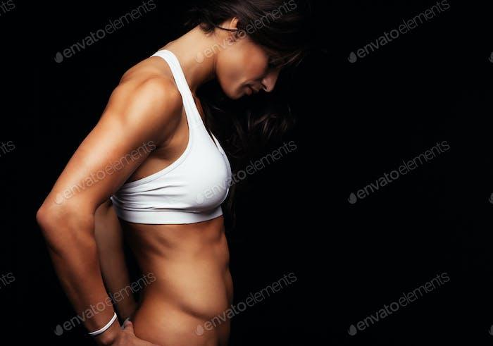 Muscular fitness female model
