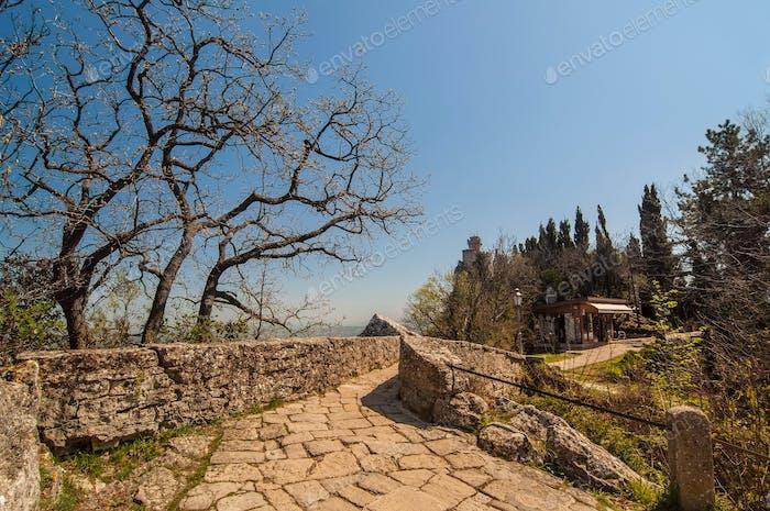 Thumbnail for Stone road to the Cesta tower, De La Fratta in San Marino Republic