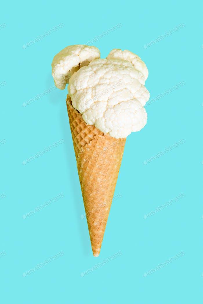 Summer diet concept, vege ice cream