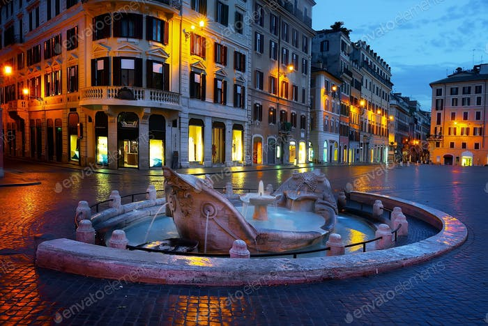 Famous fountain in Rome