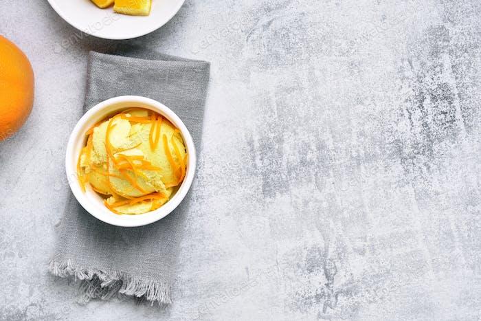 Tasty orange ice cream