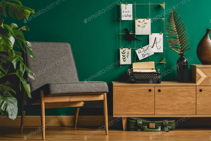 Armchair and wall organizer