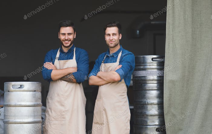 Successful family business, plant owners, young business men