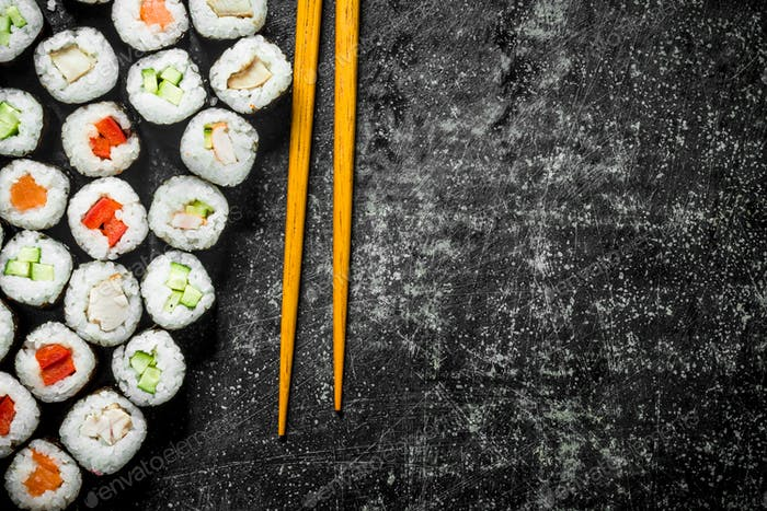 Traditional Japanese rolls.