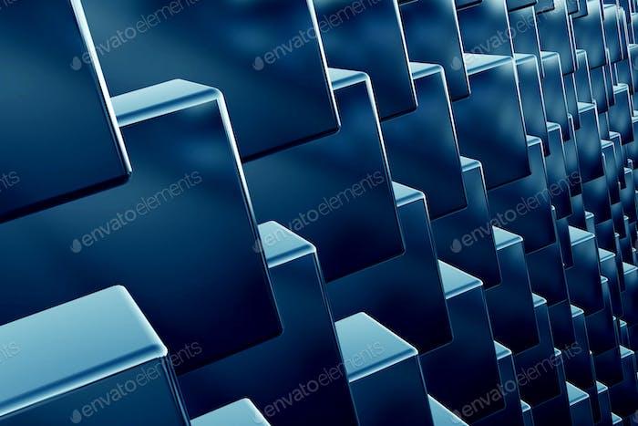 Cubos array como Fondo 3D Resumen