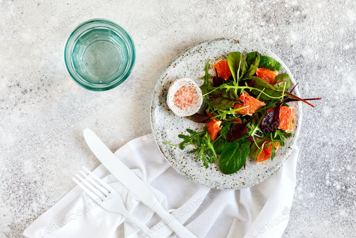 Salad Mix of Greenery and Grapefruit