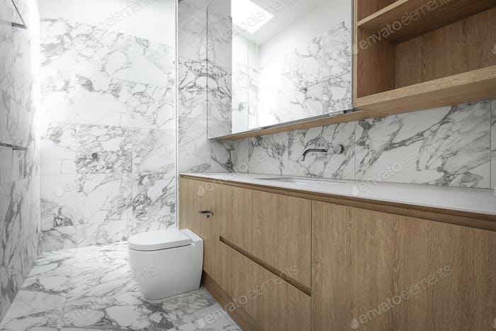 Stilvolles, modernes Badezimmer