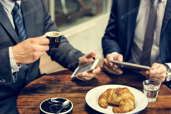 Business Men Meeting Tablet Concept