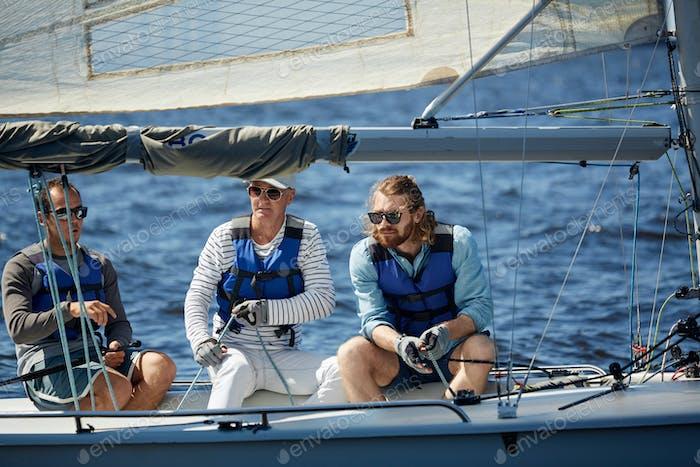 Buddies yachting