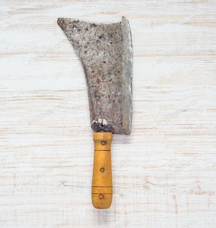 Meat Cleaver in Top View