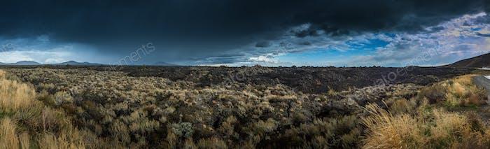 Big Cinder Butte Krater des Mondes Panorama
