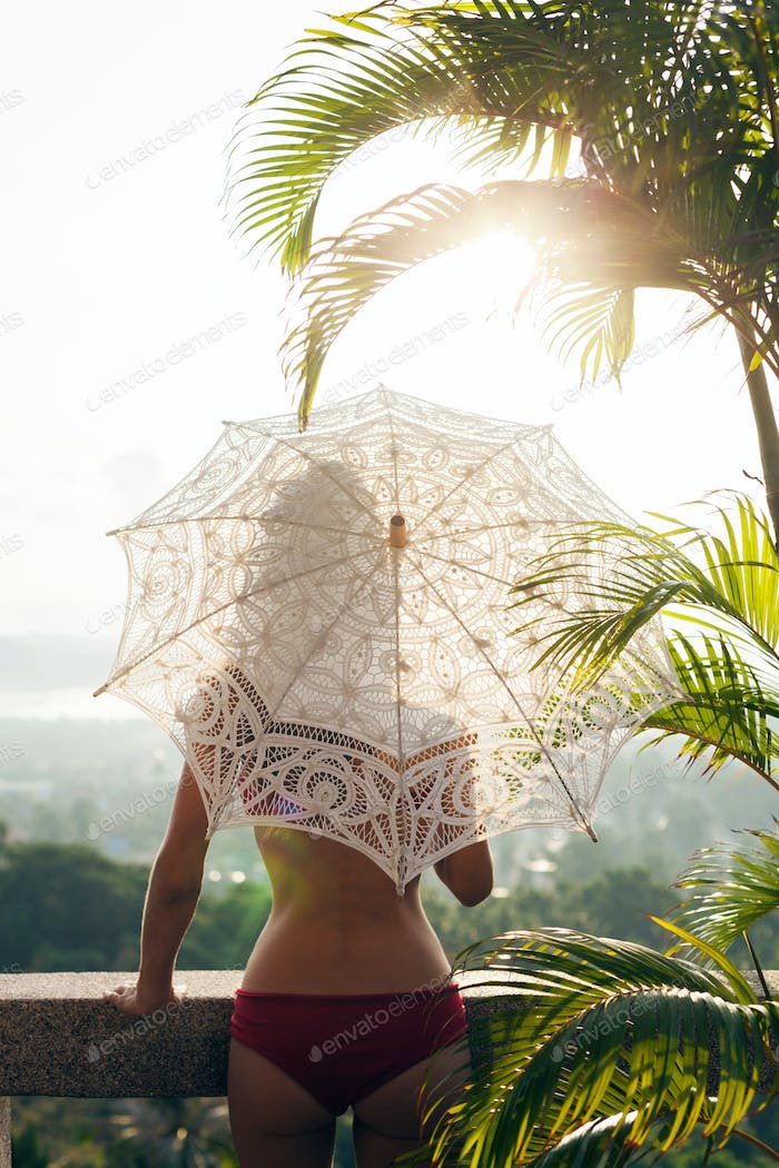 silhouette of woman with beautiful slim body