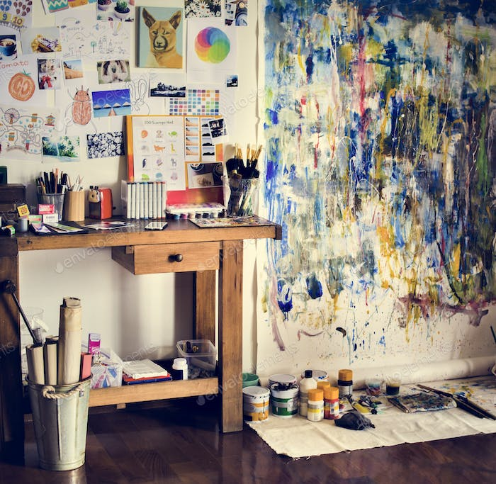 Artist artworks in the workplace hobby pastime