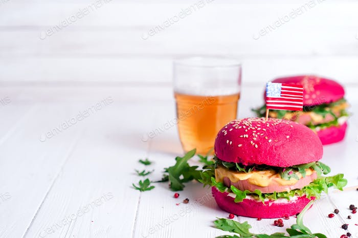 American grilled hamburger