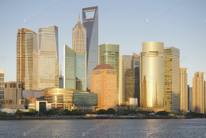 Skyline der Stadt Shanghai