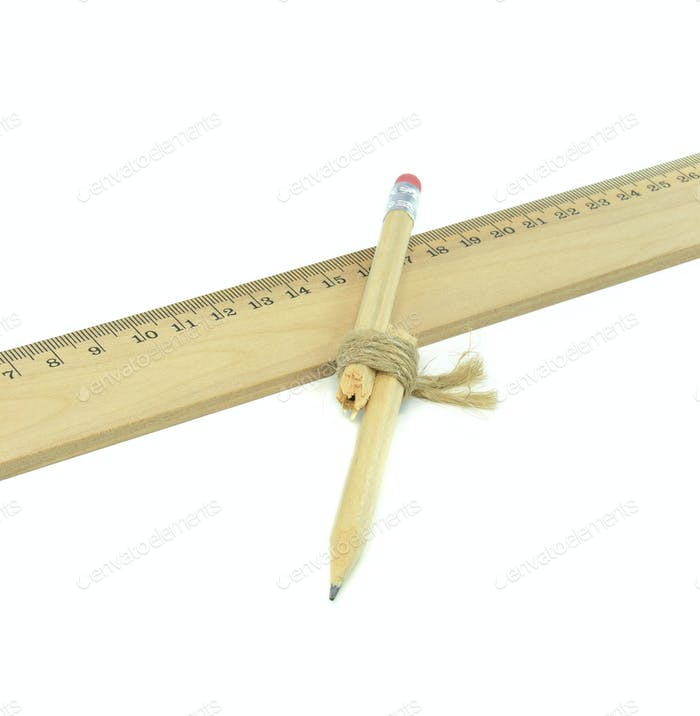A Broken Pencil and Ruler