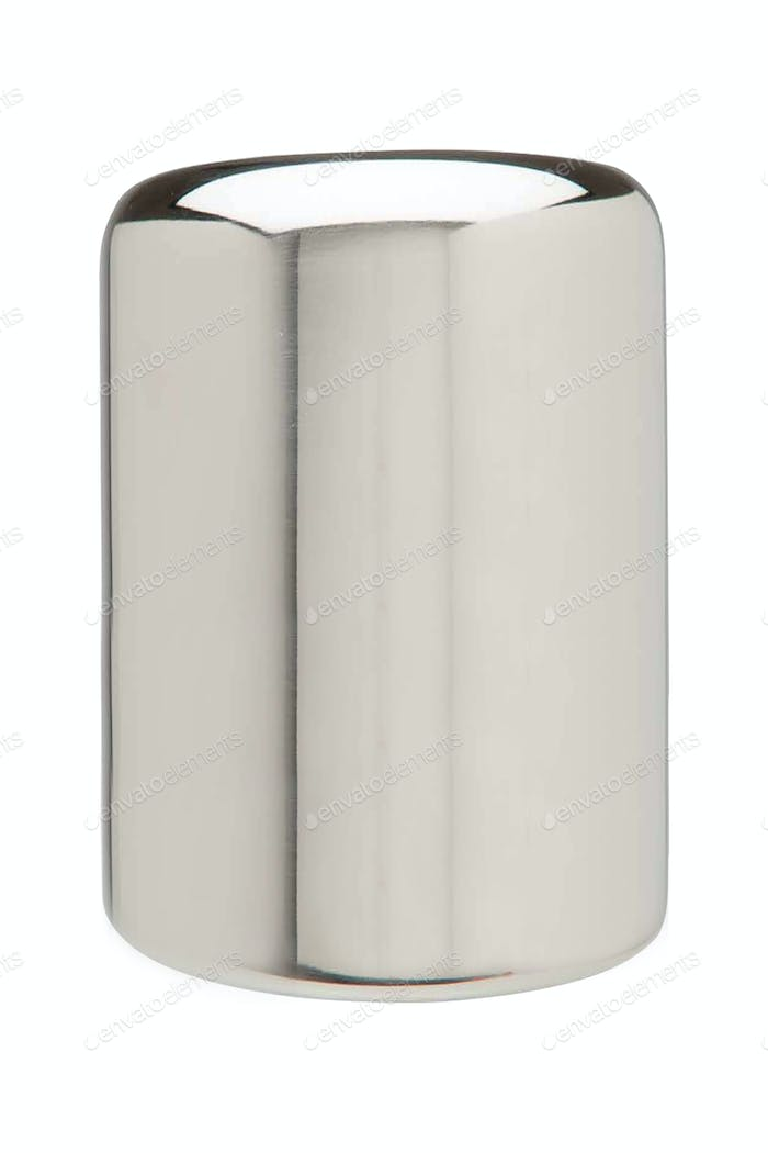metal cylinder isolated on white