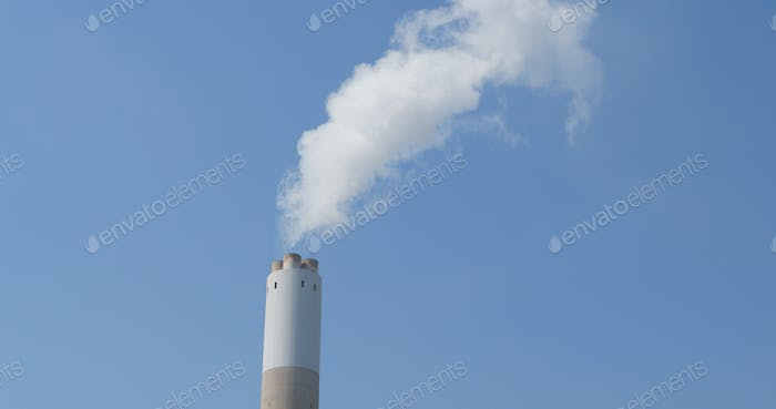 Chimney and smoke