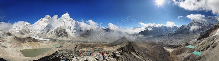 Everest & Lhotse von Kalapattar, 5545m