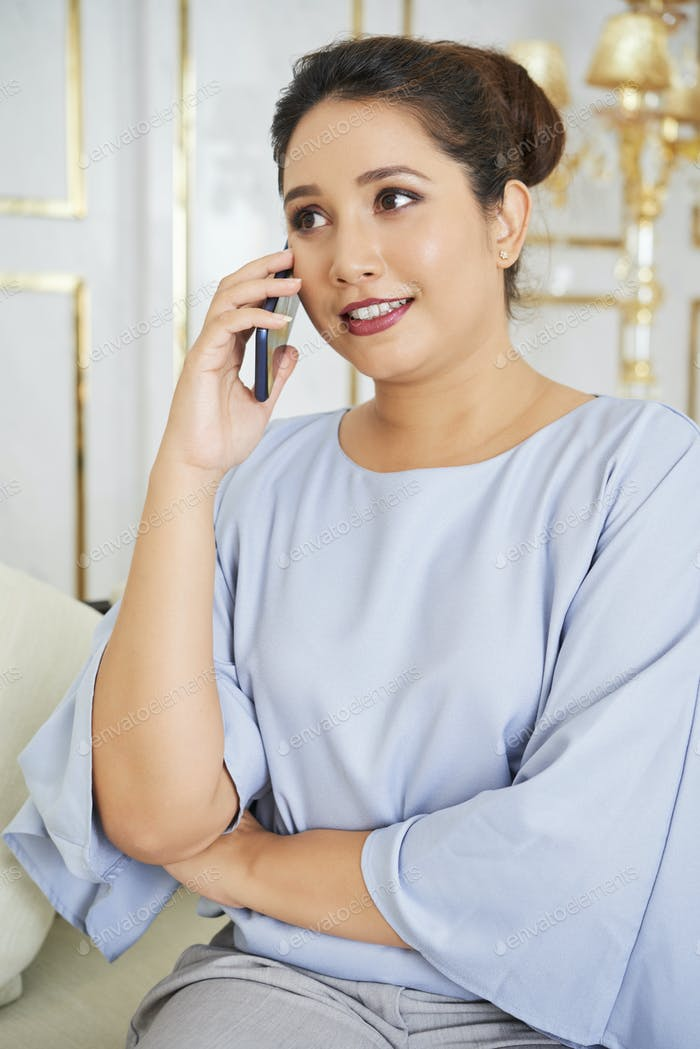 Businesswoman busy on the phone