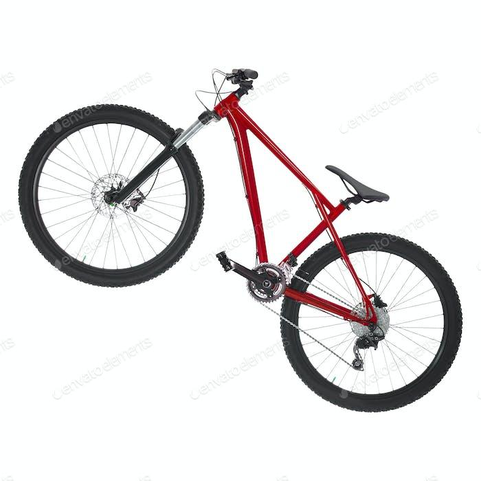 Mountainbike isoliert auf weißem Hintergrund