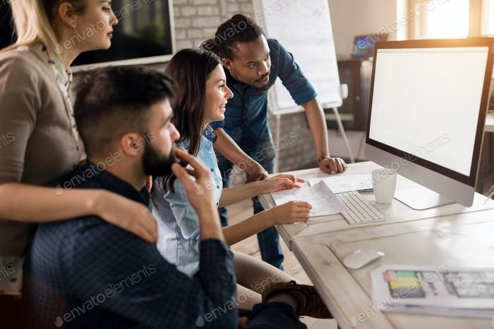 Picture of architects working together in office