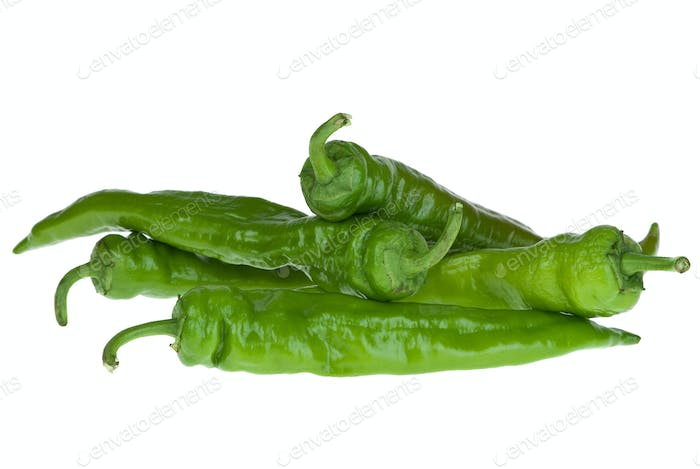 Thumbnail for Four green chili peppers