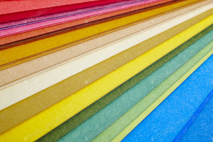 Bunte Kartons Makro-Detail. Farbe wählen. Strukturierter Hintergrund. Horizontal