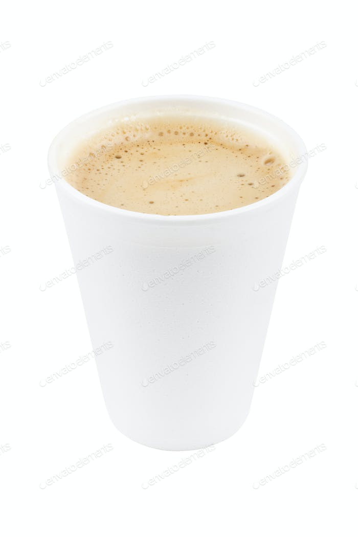 paper coffee cup with coffe