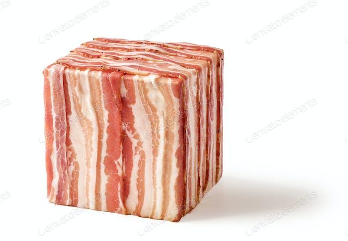 cube of prosciutto slices