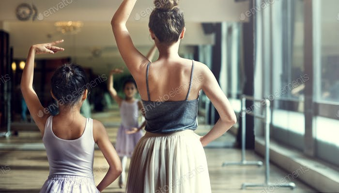 Ballerina Ballet Dance Practice Innocent Concept