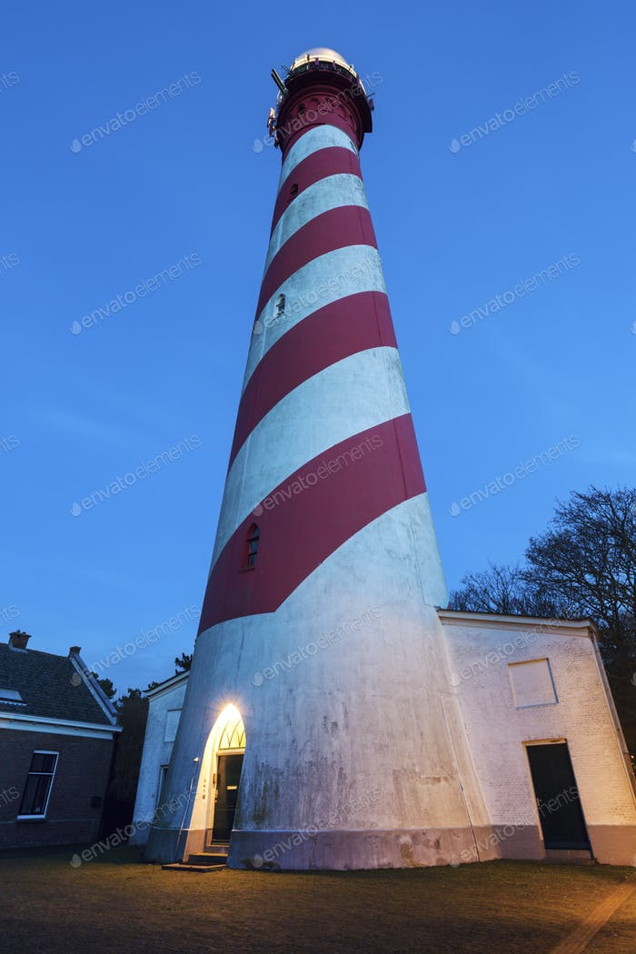 West Schouwen Lighthouse in Netherlands