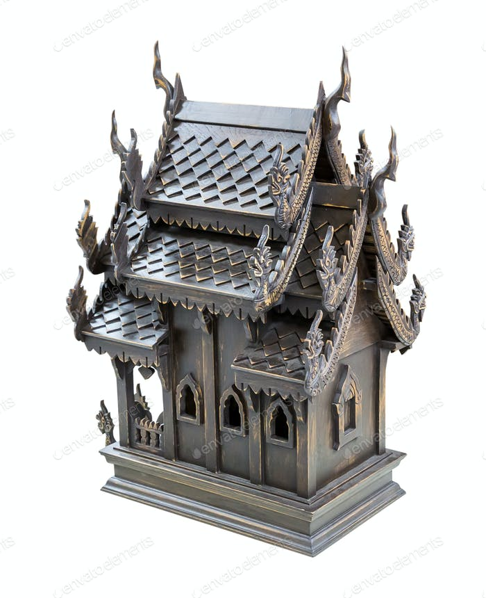 Thailand wood toy house