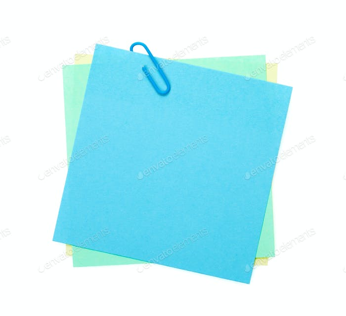 Bunte Post-it Notizen mit Clip