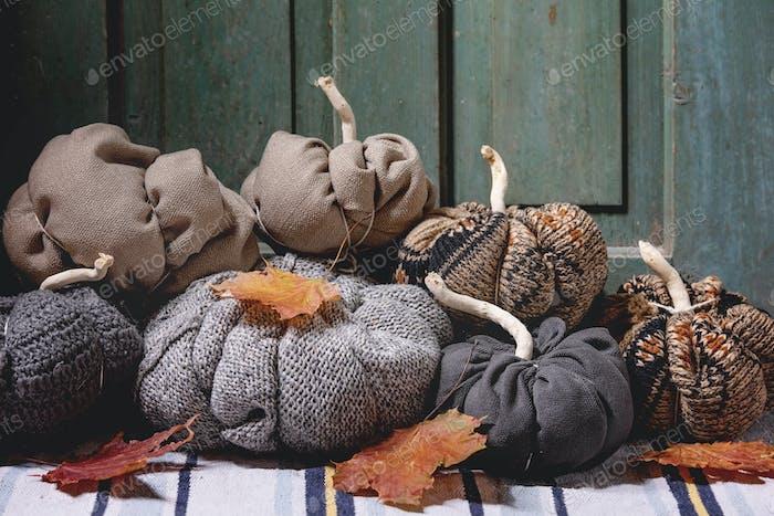Textile Kürbisse für Wohnkultur