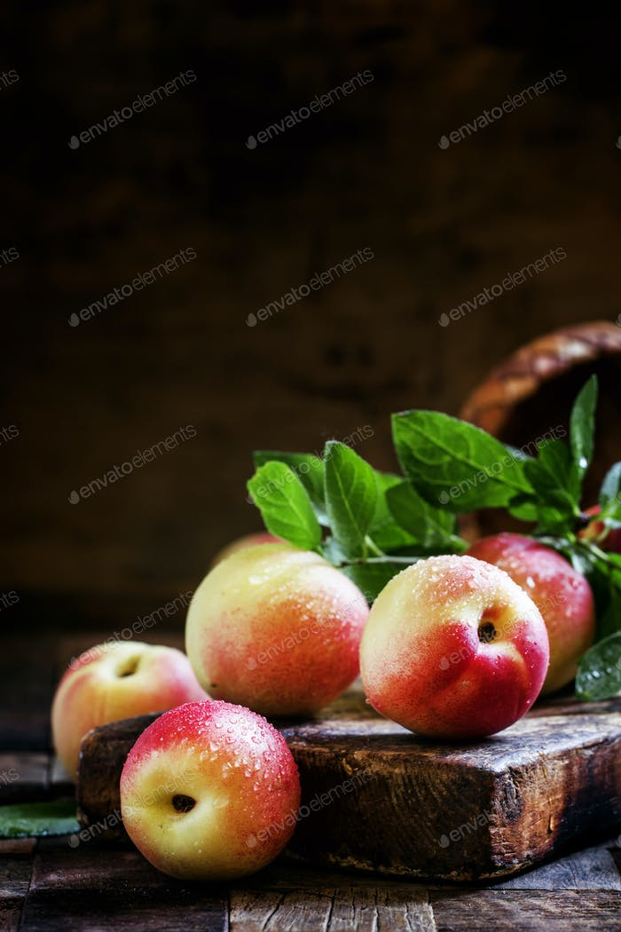 Small nectarines on the table